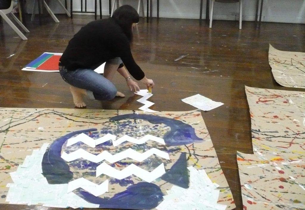 Teachers painting workshop Central Tafe 2