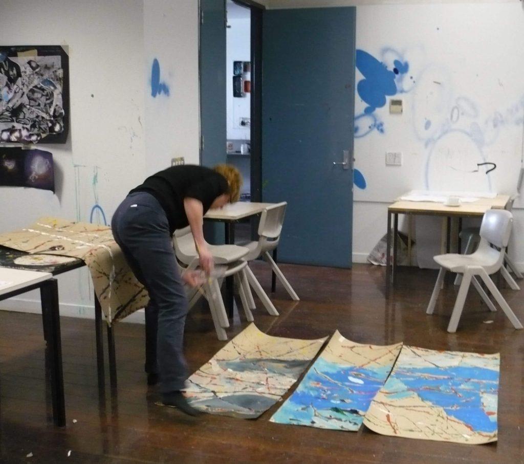 Teachers painting workshop Central Tafe3
